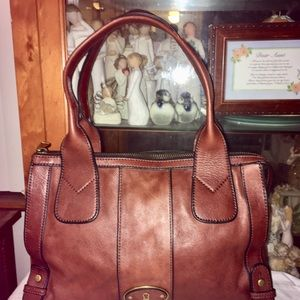 Fossil Leather Satchel Shoulder Bag